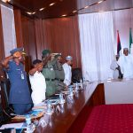 President Buhari receives Security Briefing in State House