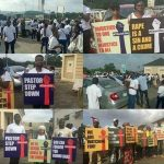 Just In: Protesters hit COZA