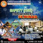 OSHAssociation 2nd Quarter FREE SAFETY EMPOWERMENT SEMINAR 2019
