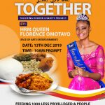 #Charity: JOIN QUEEN FLORENCE OMOTAYO – FACE OF ART ENTERTAINMENT TO FEED 1000 LESS PRIVILEGED PERSONS
