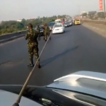 Sad: Nigerian cadets cause traffic jam on expressway, say 'civilians can't do anything' (video)