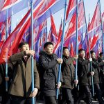 Thousands attend mass rally in N.Korea to support Kim Jong Un's threats to create 'new strategic weapon' in anger over stalled nuclear talks with US (photos)