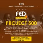 FED ON THE STREET: Do you know with 500 naira you can feed a needy kid? Yes you can!!!