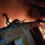 Items worth millions of Naira destroyed as fire guts shops and pharmacy in Kaduna (photos)
