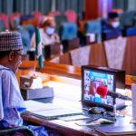 Photos: Buhari participates in virtual China-Africa Extra Ordinary Summit to fight Covid-19