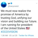 Kanye West to run for US president  2020