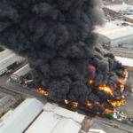 Very Huge fire breaks out in Birmingham and over 100 firefighters battle to put it out