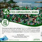 FED to embark on Operation Recycle, Safe and Be Safe (R.S.B.S) – Press release