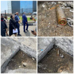 (photos) Lagos Judicial Panel of Inquiry visit Lekki tollgate, discover bullet shells on the floor
