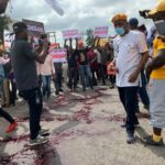 #ENDSARS: Some uncountable angry Nigerians Protest at Force Headquarters In Abuja