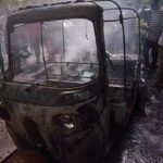 "Fire everywhere as ""Keke NAPEP"" and two motorcycle collide in Suleja LG Secretariat of Niger State"