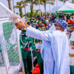Nigerians react as the white pigeons released byPresident Buhari at Armed Forces Remembrance Day celebration refused to fly