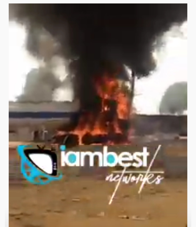 Video: Terrible fire outbreak as Tanka burns to ashes