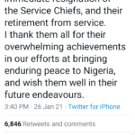 President Buhari appoints new service chiefs