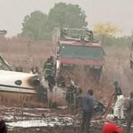 Photos: Military Jet crashes in Abuja
