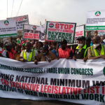 Photos: NLC and TUC members embark on nationwide protest