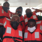 Photos: Nigeria Football team, Super Eagles embark on boat trip to Benin Republic for AFCON qualifiers clash