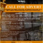 Call for Advert placement on IAMBEST MAGAZINE (Get Inspired Magazine second edition)