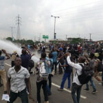 Nigerian security teargas, shoot and arrest Yoruba Nation protesters in Lagos
