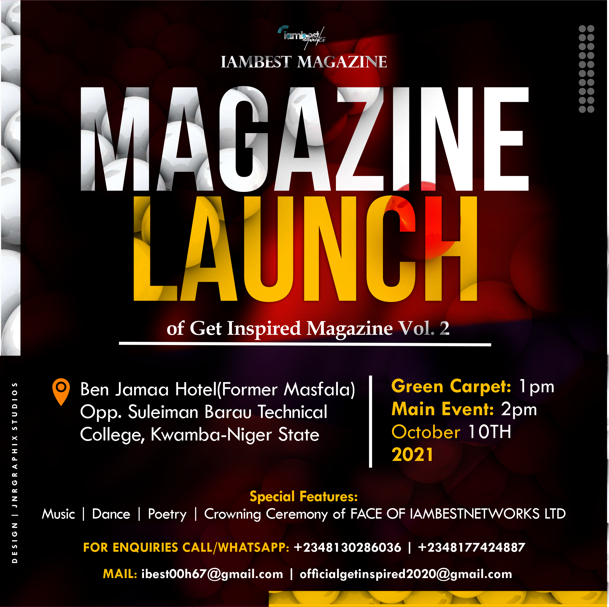 Details on the Get Inspired Magazine Vol. 2 of IAMBEST MAGAZINE